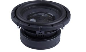 """dual 4-ohm voice coil subwoofer coated high-density paper cone double-stitched foam surround power handling: 400 watts RMS (800 watts peak) sensitivity: 85 dB top-mount depth: 5-1/8"""" grille not included warranty: 1 year"""
