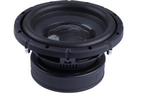 "dual 4-ohm voice coil subwoofer coated high-density paper cone double-stitched foam surround power handling: 400 watts RMS (800 watts peak) sensitivity: 85 dB top-mount depth: 5-1/8"" grille not included warranty: 1 year"